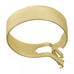 1-Inch Round Cafe Curtain Clips, Brass