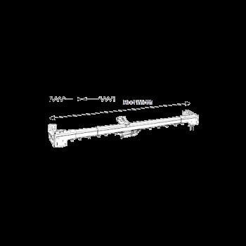 "Regular Duty Two-Way Traverse Rod 84""-156"" Adjustable Width"