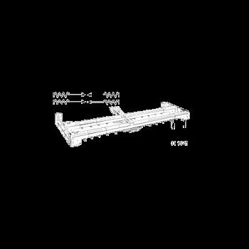 """Super Heavy Duty Double Traverse Rod 120""""-228"""""""