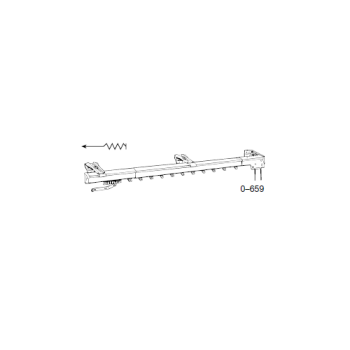 Regular Duty One-Way Convertible Traverse Rod