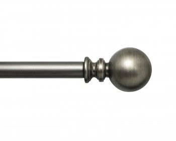 Pewter Sphere Rod and Finial Set