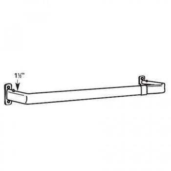 "Single Lock-Seam Curtain Rod 48-84"" Projects 1 1⁄2"""