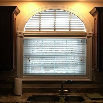 Specialty Shape Faux Wood Shutters