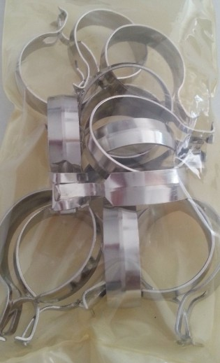 1-Inch Round Cafe Curtain Clips, Nickel