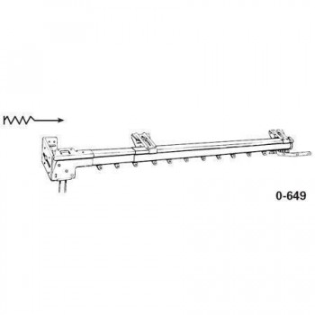 "Super Heavy Duty One-Way Left Traverse Rod 38""-66"""