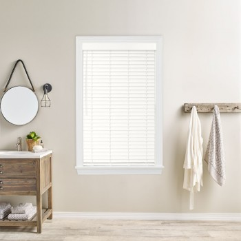 """Simple Selections 2"""" Cordless Faux Wood Blinds"""