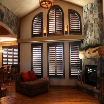 Specialty Shape Real Wood Shutters